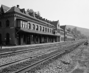 Built in 1865, the station is listed on the National Register of Historic Places The station also included a large hotel called Starrucca House.